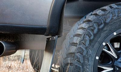 Husky Liners: KickBack Mud Flaps for Lifted Trucks