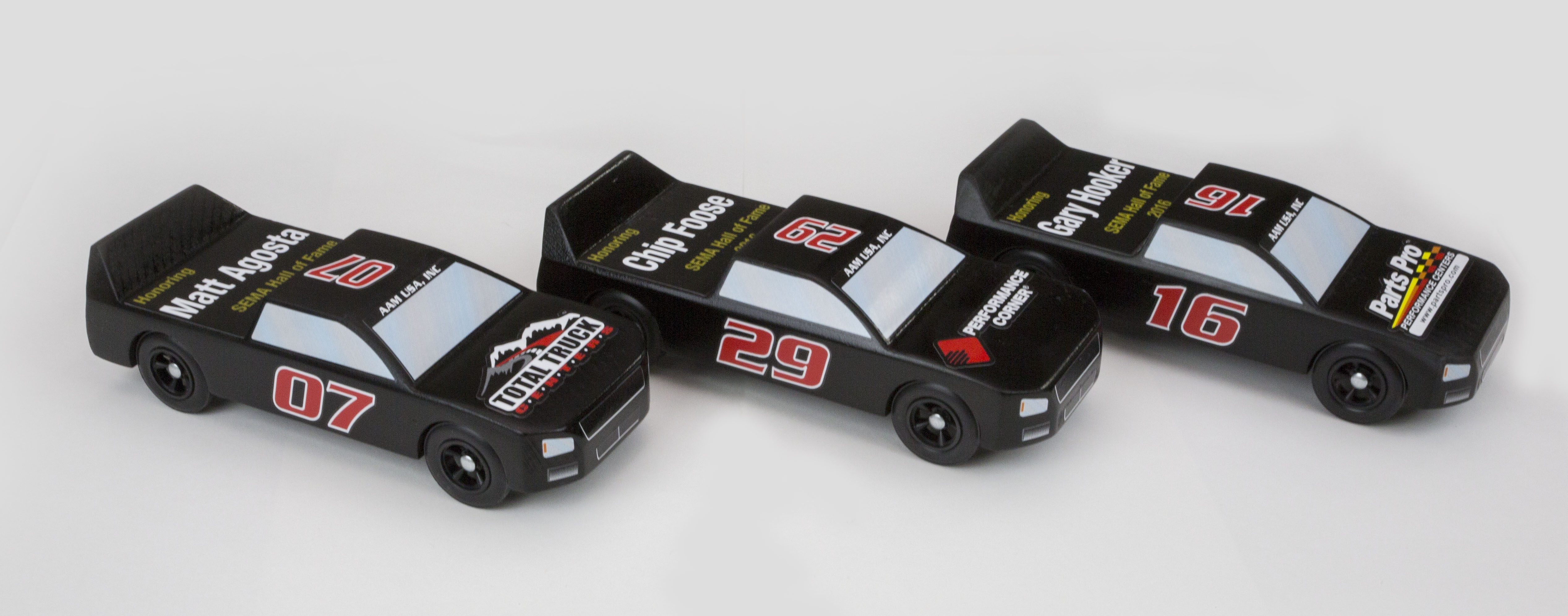AAM Builds Pinewood Derby Trucks For SEMA Cares Charity To Honor 2016 Hall Of Fame