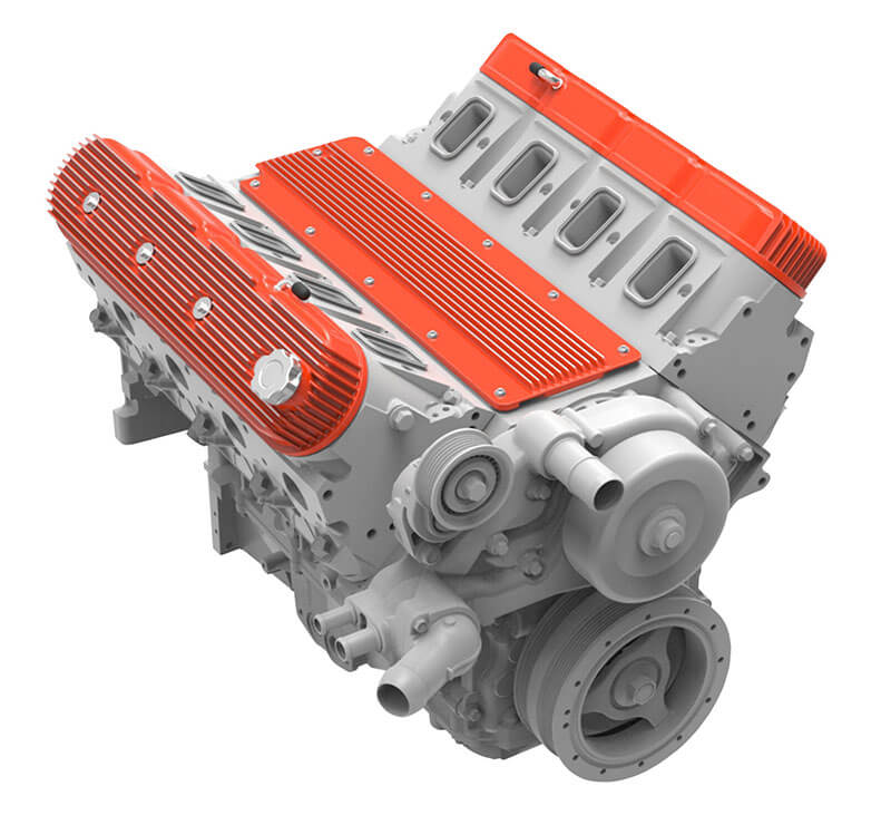 Holley: Finned and Trussed Valley Covers for GM LS Engines