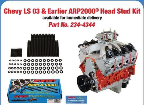 ARP (234-4344): ARP2000 Head Stud Kit for Chevrolet LS (2003 & Earlier)