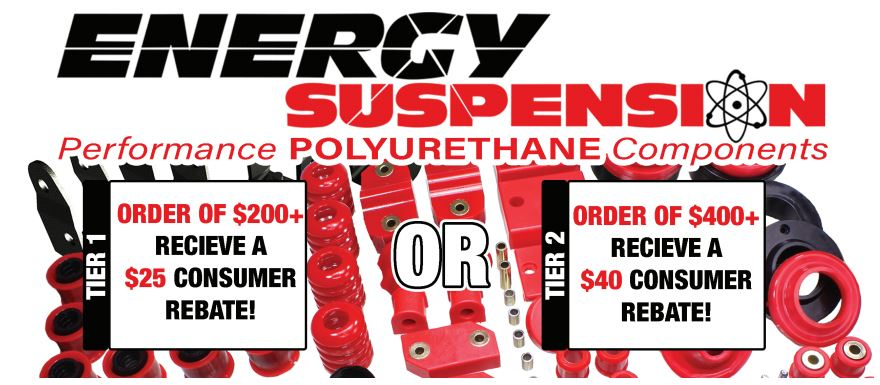 Energy Suspension: Get up to $40 Back on Performance Polyurethane Components