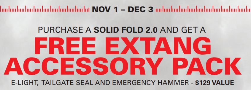 Extang: Free Accessory Pack ($129 Value) with Solid Fold 2.0 Purchase–NOW THROUGH 12/31!