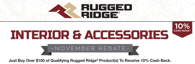 Rugged Ridge: Get 10% Back on Qualifying Interior and Accessories Purchases of More Than $100