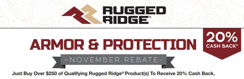 Rugged Ridge: Get 20% Back on Qualifying Armor and Protection Purchases of More Than $250