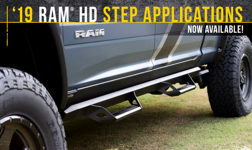 N-FAB: New Steps for 2019 Ram 2500/3500 HD Now Available!