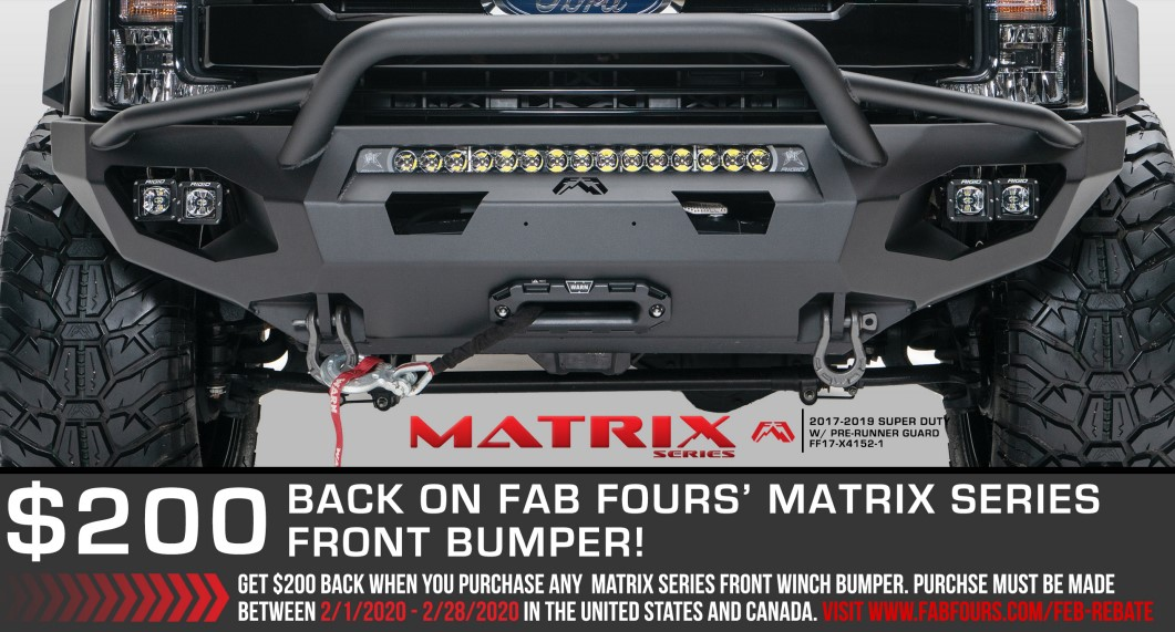 Fab Fours: Get $200 Back on Matrix Front Bumpers