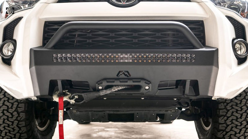 Fab Fours Hidden Winch Mount Front Bumper for 2014-20 Toyota Tacoma T4R-N4552-1