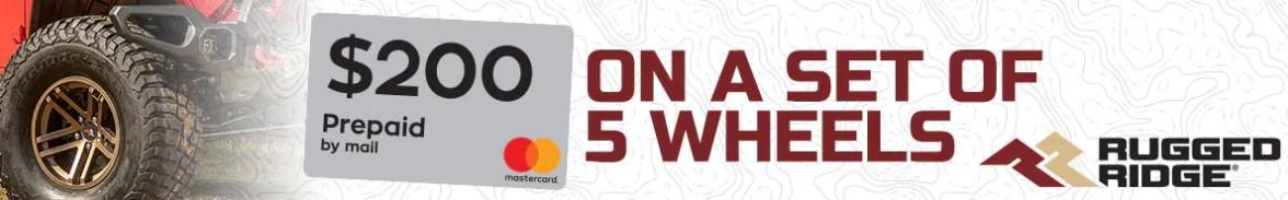 Rugged Ridge: Get $200 Back on Five Aluminum Wheels