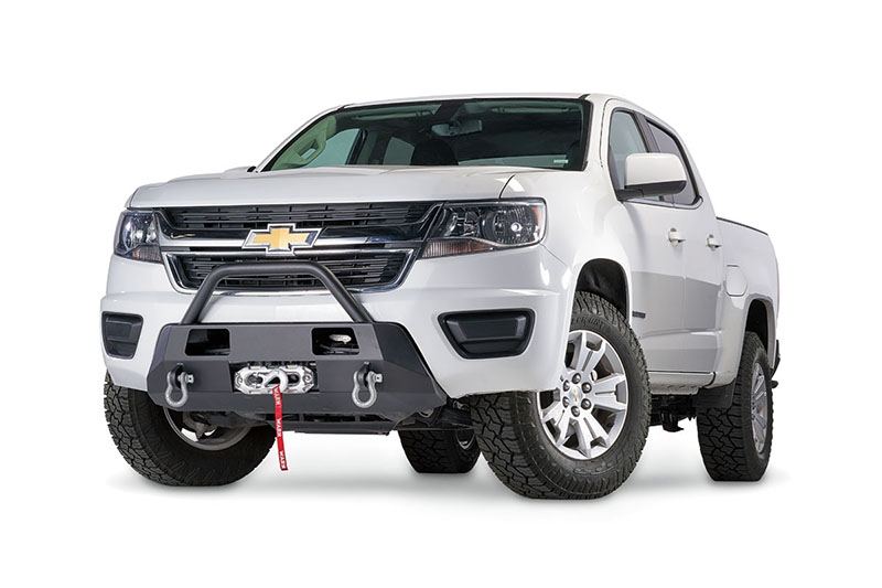 WARN (103210): Semi-Hidden Winch Front Bumper for '15-'19 Chevy Colorado