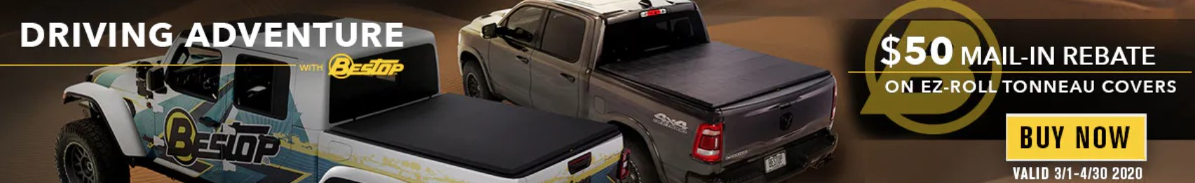"Bestop: Get $50 Back on EZ-Roll Tonneau Covers During ""Driving Adventure"" Event"