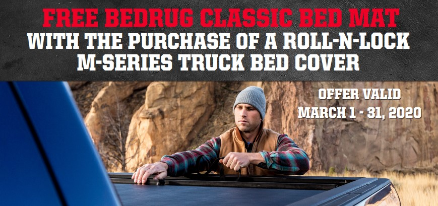 Roll-N-Lock: Get a Free BedRug Classic Mat with Purchase of M-Series Truck Bed Cover