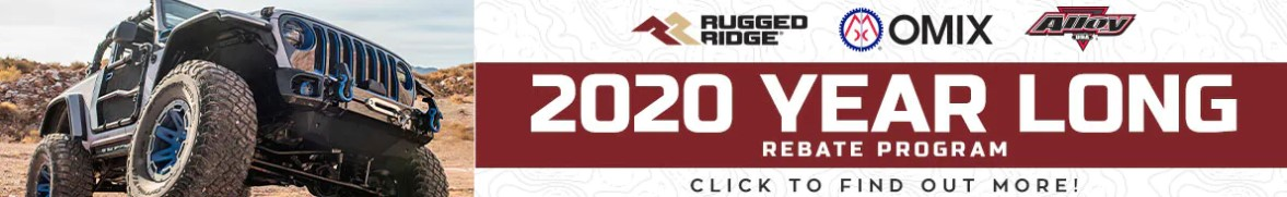 Rugged Ridge: Year-Long Rebate for 2020