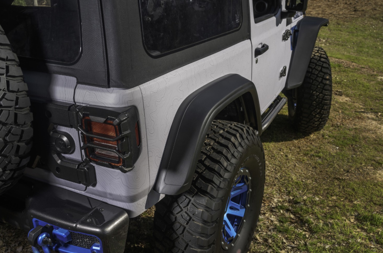 Rugged Ridge (11640.51) Max Terrain Fender Flare Set, F & R; 18-20 JL/JLU