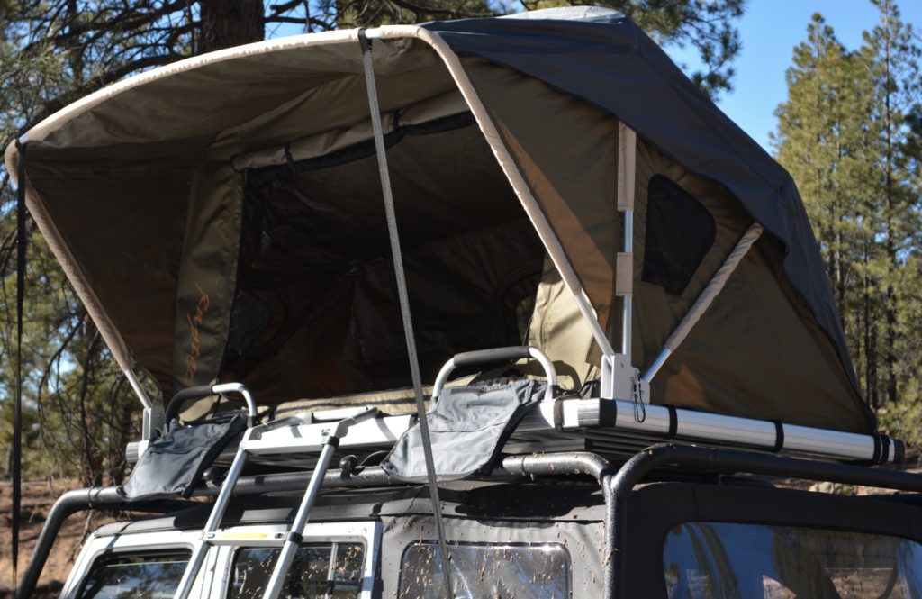 Raptor Series: Voyager Rooftop Camping Tent with Ladder for Jeep