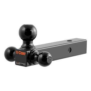 "CURT (45652): Multi-Ball Mount  (2"" Hollow-Shank with 1-7/8"", 2"", 2-5/6"" Balls)"