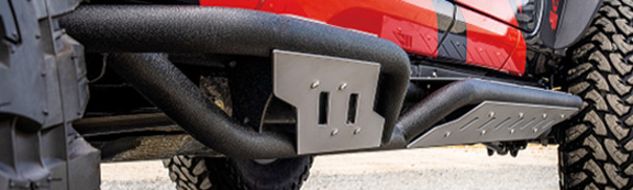 <strong>Paramount Automotive (81-10600/81-20600): </strong>Gen 2 Tri-Tube Rock Sliders for Wrangler JK/JL 4DR