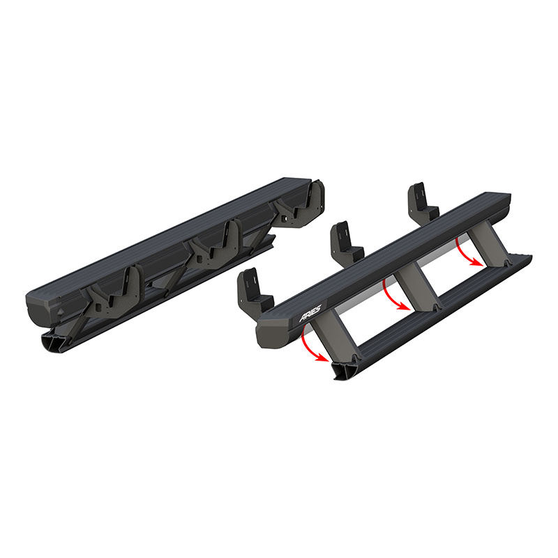 ARIES (3047904): ActionTrac™ Powered Running Boards for 2021 Chevrolet Colorado / GMC Canyon