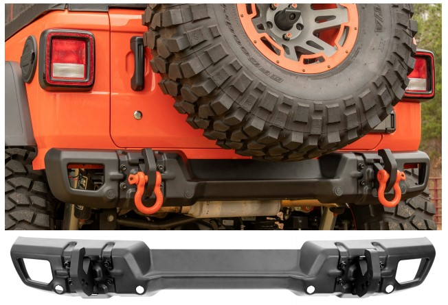 Rugged Ridge (11549.17): Arcus Rear Bumper for Wrangler JL