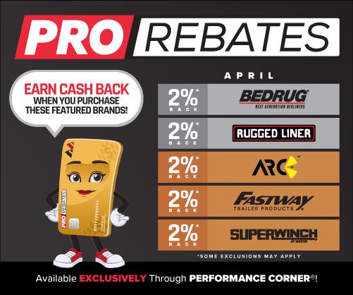 PRO Rebates: April Featured Brands