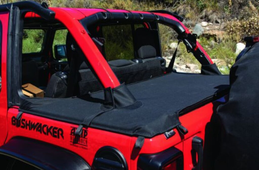 Rampage Products Tonneau with Tailgate Bar kit for 18-21 Jeep Wrangler JL Unlimited