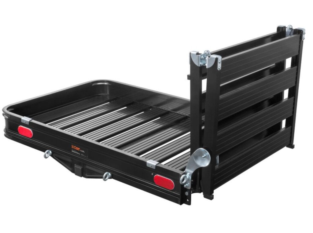 CURT 50 x 30 Trailer Hitch Cargo Carrier with Ramp