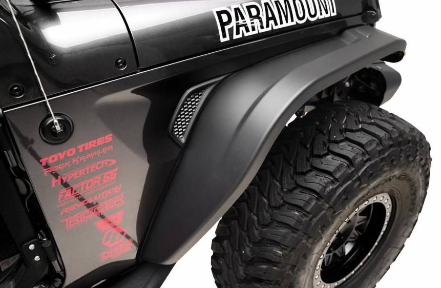 Paramount Automotive Hydro Series Fender Flares for Wrangler