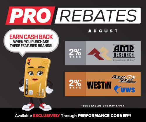 PRO Rebates: August Featured Brands